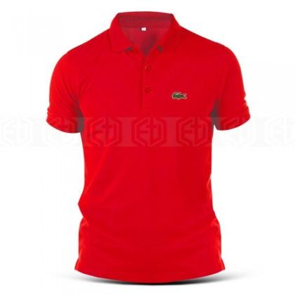 Polo T-Shirt Sulam Design Crocodile Lacoste Local Sports Fashion Logo Designer Streetwear Baju Lelaki Embroidery Tee