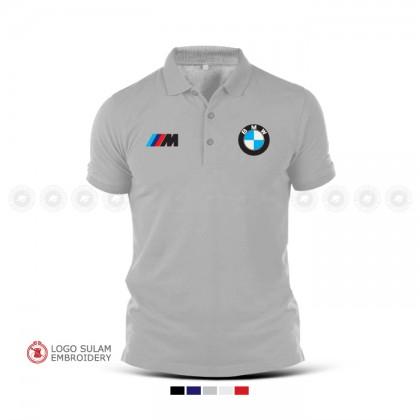 Polo T Shirt Sulam BMW M Sport Sulam M3 M4 M5 X3 X5 X6 M Performance Motorrad Racing Baju Motorsport Turbo Performance