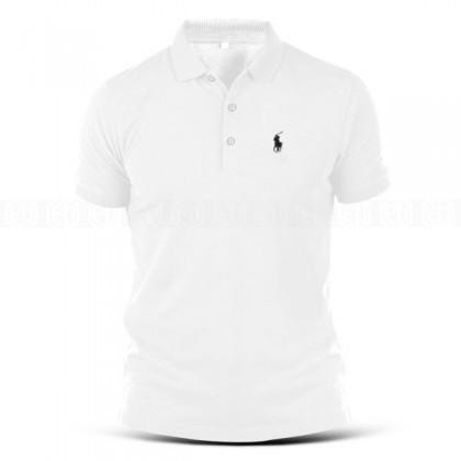 Polo T-Shirt Sulam Horse Kuda Designer Logo Embroidery 100% Cotton Fashion Casual Sport Streetwear Baju Jahit Tee