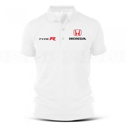 Polo T Shirt Sulam Type R Honda Car Racing Team HRC VTEC Turbo Civic Tuning Casual Motorsport Bikes Performance