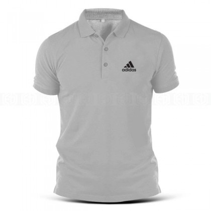 Polo T Shirt Adidas Logo Classic Vintage Popular Fashion Sportswear Streetwear Unisex Sports Activewear Casual Cotton